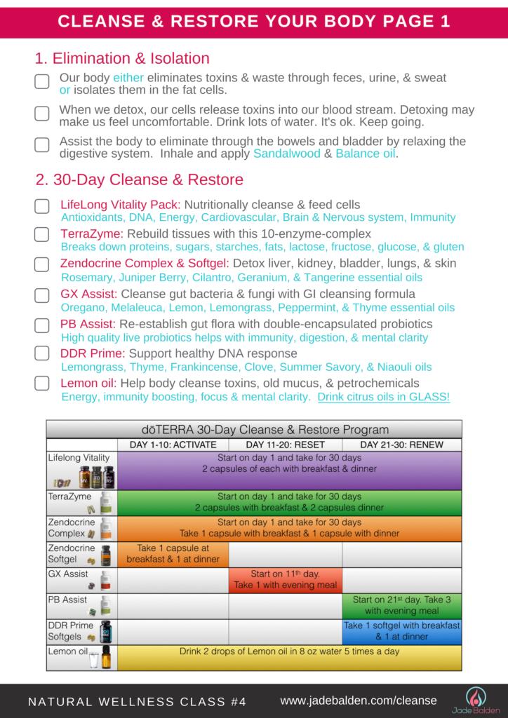 Wellness Class #2 Cleanse & Restore | Jade Balden