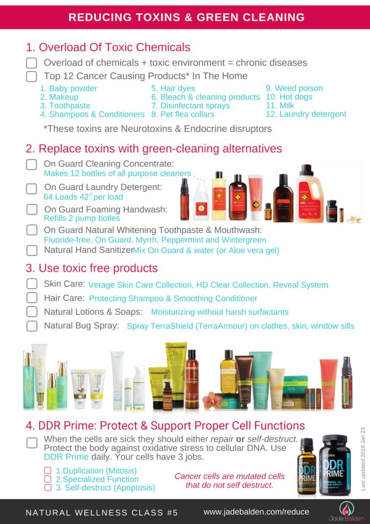 Wellness Class #5 Reducing Toxins & Green Cleaning | Jade Balden