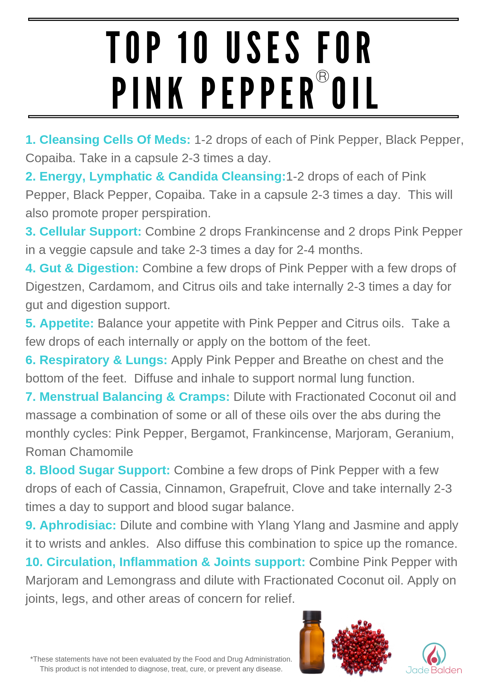 Pink Pepper Top 10 Uses Jade Balden